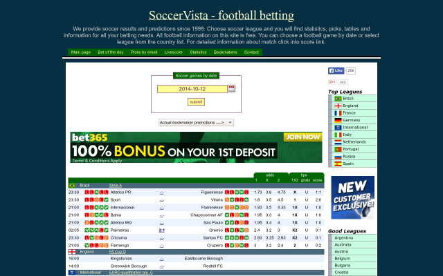 Soccer Vista - sites for betting on football