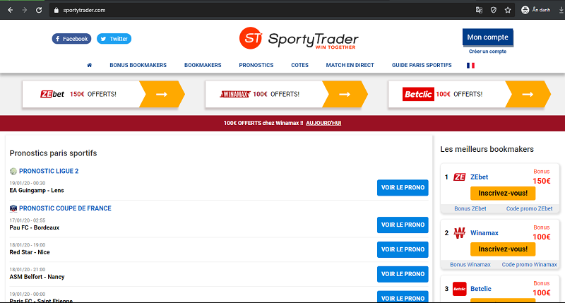 Sporty Trader - sites for betting on football